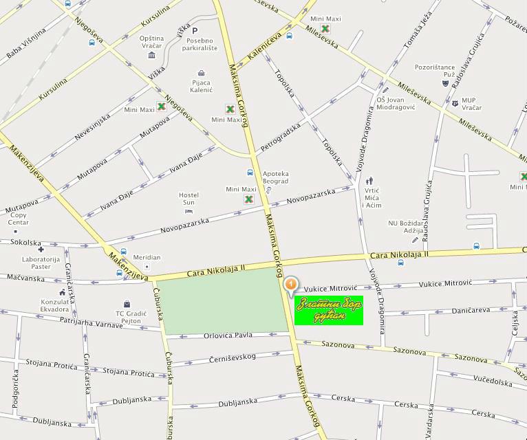 mapa zlatibora Zlatiborski dućan   Zlatni Bor Vračar   delikatesi sa Zlatibora mapa zlatibora